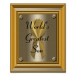 World's Greatest Son Poster Print Sign