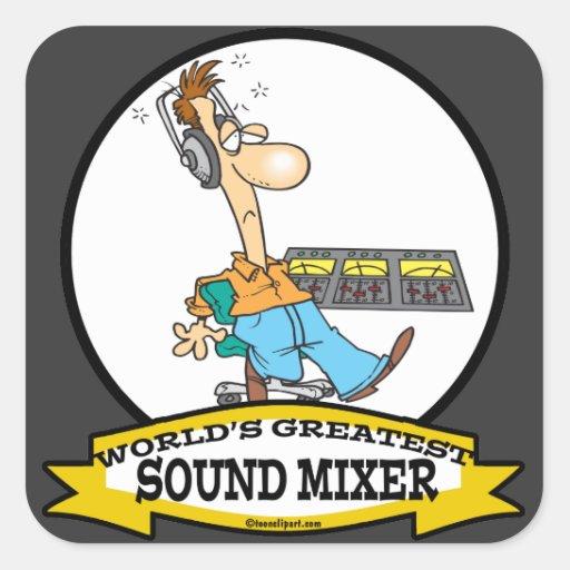WORLDS GREATEST SOUND MIXER MEN CARTOON STICKERS