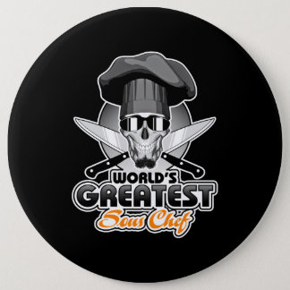 World's Greatest Sous Chef v7 6 Cm Round Badge