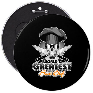 World's Greatest Sous Chef v7 6 Cm Round Badge