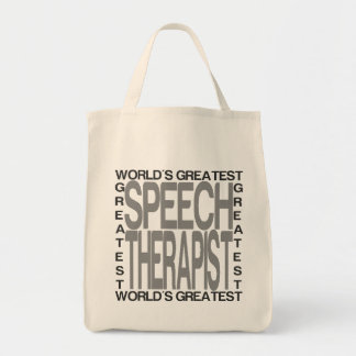 Worlds Greatest Speech Therapist Tote Bag