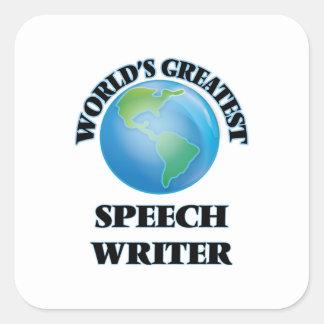World's Greatest Speech Writer Square Stickers