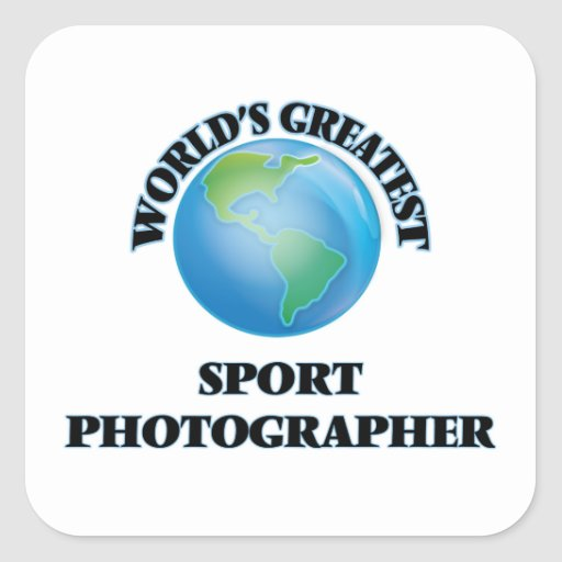 World's Greatest Sport Photographer Square Stickers