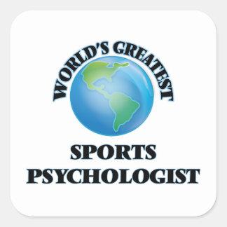 World's Greatest Sports Psychologist Square Sticker