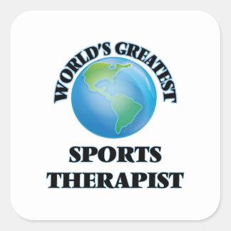 World's Greatest Sports Therapist Square Sticker