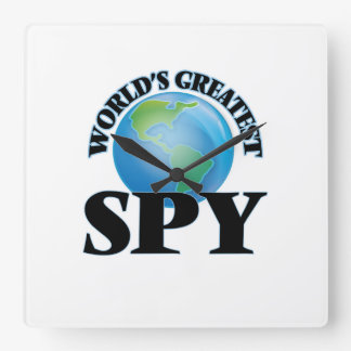 World's Greatest Spy Square Wall Clock