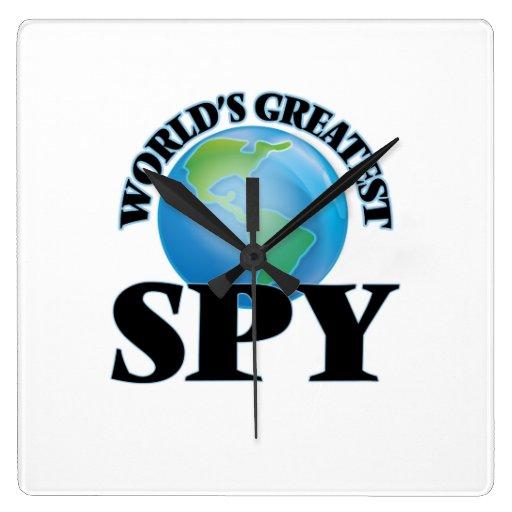 World's Greatest Spy Square Wall Clock
