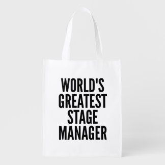 Worlds Greatest Stage Manager Reusable Grocery Bag