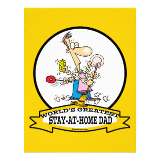 WORLDS GREATEST STAY AT HOME DAD CARTOON 21.5 CM X 28 CM FLYER