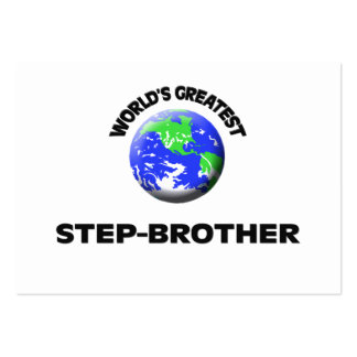 World's Greatest Step-Brother Business Card Template