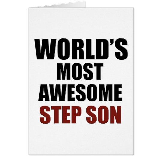 World's Greatest Step Son Card