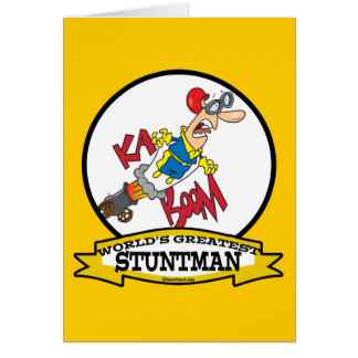 WORLDS GREATEST STUNTMAN MEN CARTOON CARD