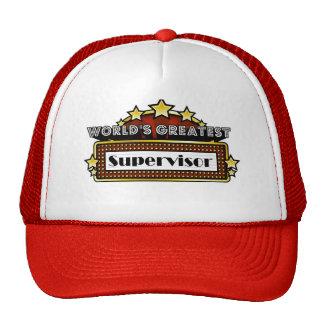 World's Greatest Supervisor Mesh Hats
