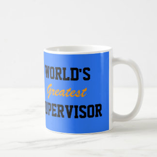 World's greatest supervisor mug