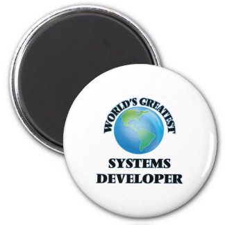 World's Greatest Systems Developer 6 Cm Round Magnet