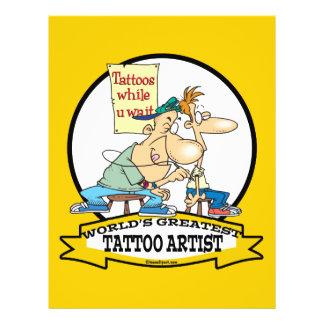 WORLDS GREATEST TATTOO ARTIST CARTOON FLYER