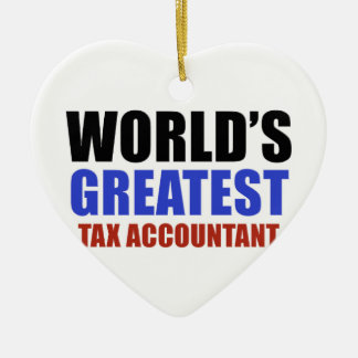 World's greatest Tax Accountant Christmas Ornament
