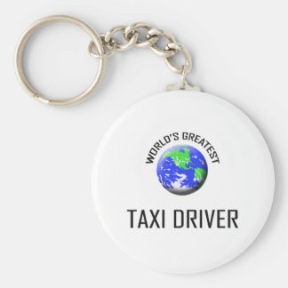 World's Greatest Taxi Driver Basic Round Button Key Ring