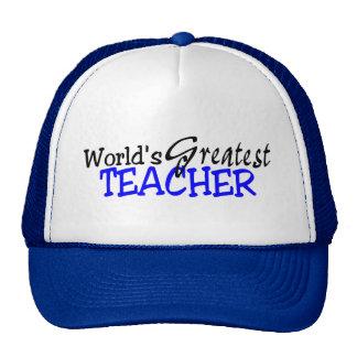 Worlds Greatest Teacher Blue Black Cap