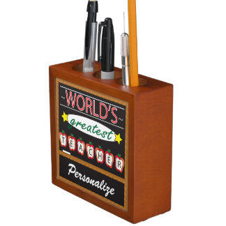 World's Greatest Teacher Desk Organizer Desk Organiser