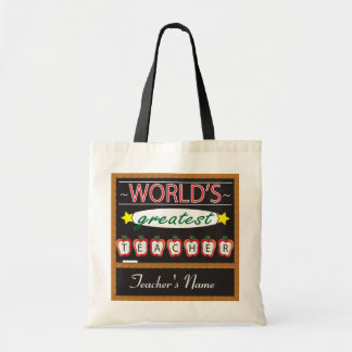 World's Greatest Teacher | DIY Name Tote Bag