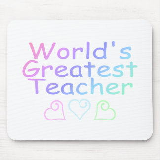 Worlds Greatest Teacher Pastel Mousepads