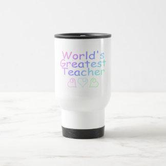 Worlds Greatest Teacher (Pastel) Stainless Steel Travel Mug