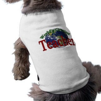 World's Greatest Teacher Sleeveless Dog Shirt
