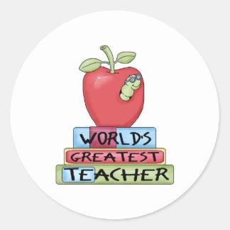 World's Greatest Teacher Stickers
