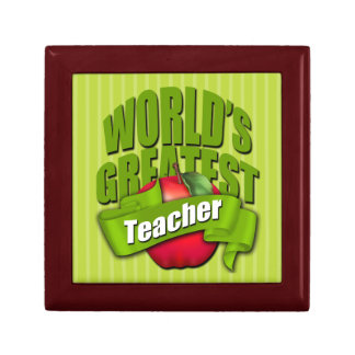 Worlds Greatest Teacher Tile Gift Box