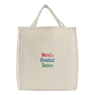 Worlds Greatest Teacher Tote Bag Template