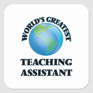 World's Greatest Teaching Assistant Stickers