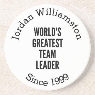 Worlds Greatest Team Leader Drink Coaster