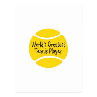 Worlds Greatest Tennis Player Postcard