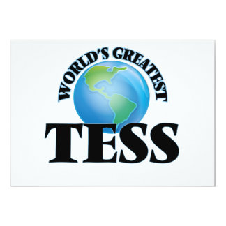World's Greatest Tess Personalized Announcement