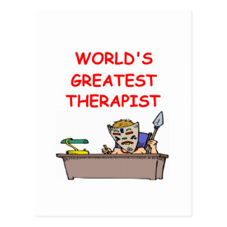 world's greatest therapist postcard