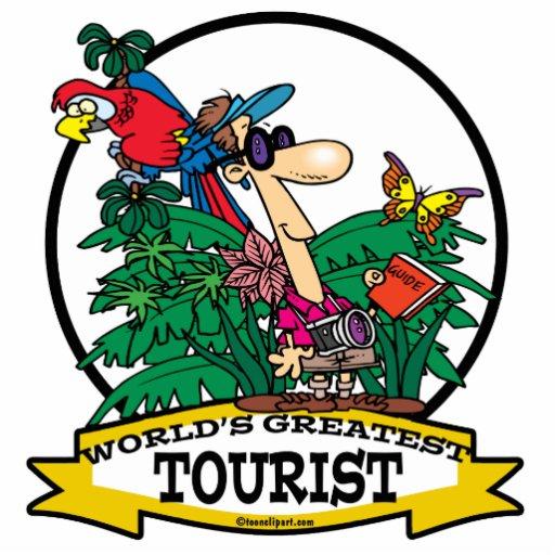 WORLDS GREATEST TOURIST MEN CARTOON CUT OUTS