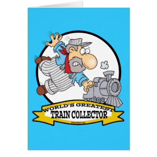 WORLDS GREATEST TRAIN COLLECTOR MEN CARTOON CARDS