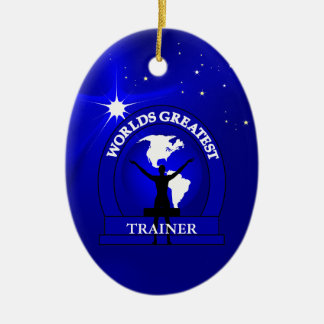 Worlds Greatest Trainer Christmas Ornament