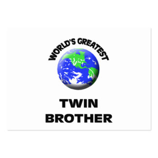 World's Greatest Twin Brother Business Card Templates