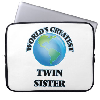 World's Greatest Twin Sister Computer Sleeve