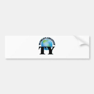 World's Greatest Ty Bumper Sticker