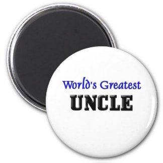 World's Greatest Uncle 6 Cm Round Magnet