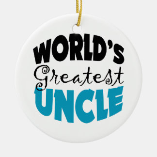 Worlds Greatest Uncle Christmas Ornament