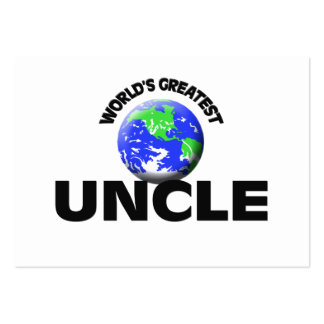 World's Greatest Uncle Pack Of Chubby Business Cards