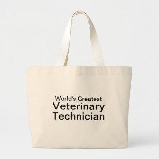 World's Greatest Vet Tech Large Tote Bag