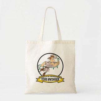 WORLDS GREATEST VINE SWINGER MEN CARTOON BAG