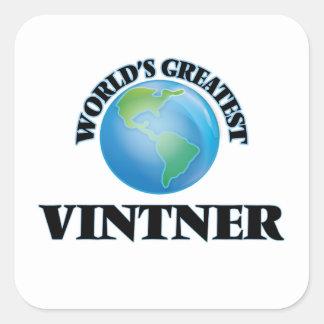 World's Greatest Vintner Square Sticker