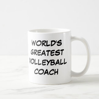 """World's Greatest Volleyball Coach"" Mug"