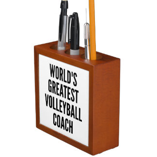 Worlds Greatest Volleyball Coach Pencil Holder